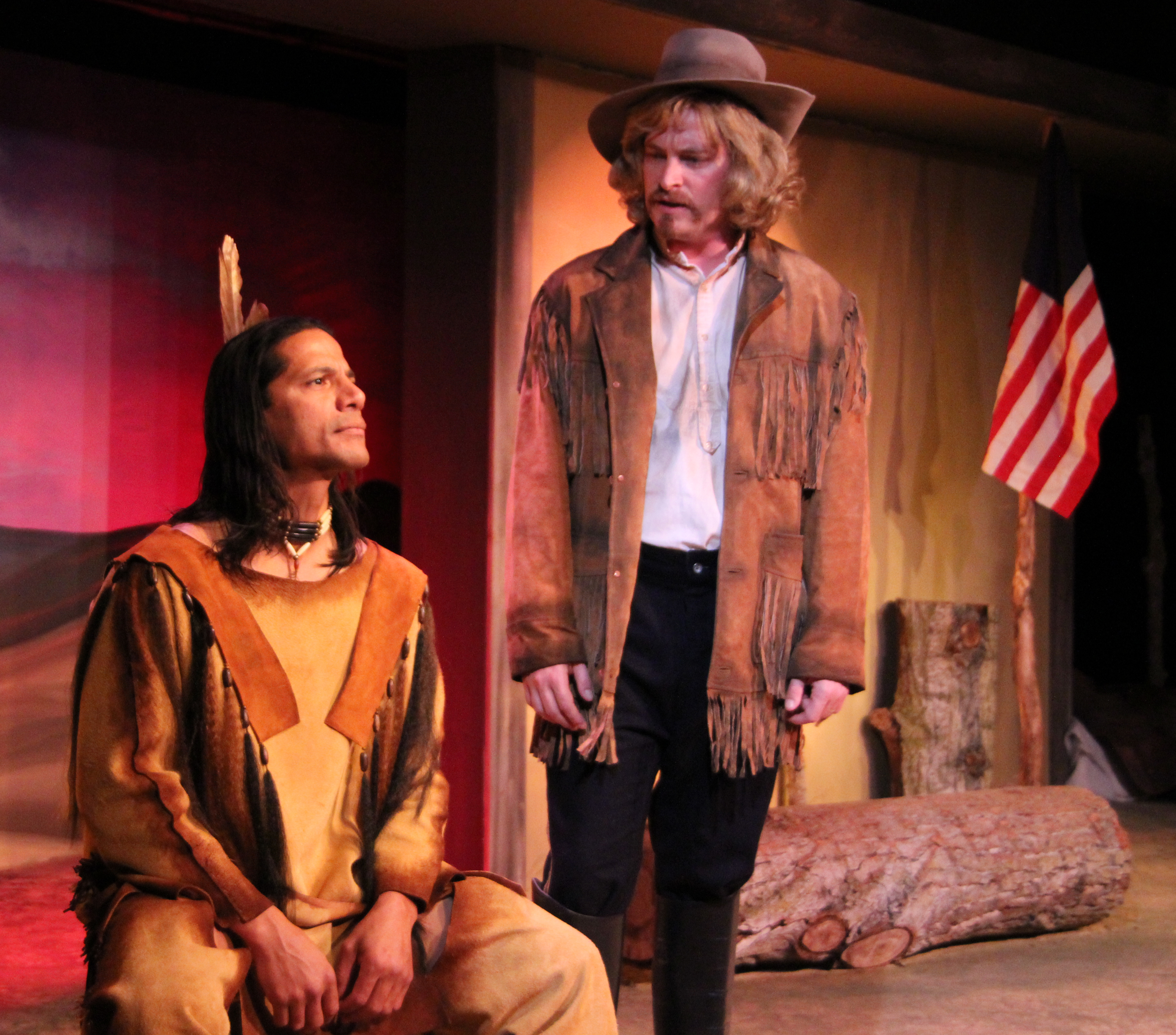 Louie Leonardo (left) and Kirk Blackinton in Crazy Horse and Custer.