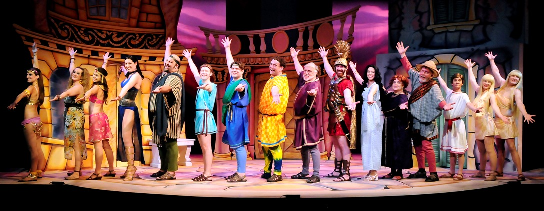 The cast of A Funny Thing Happened on the Way to the Forum