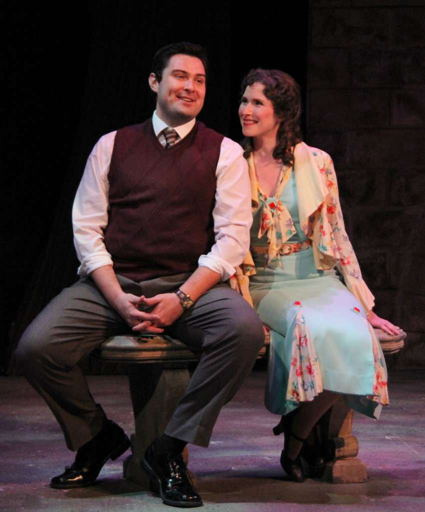 Jerry Lee & Jackie Vanderbeck in the world premiere of It's a Wonderful Life - The Musical