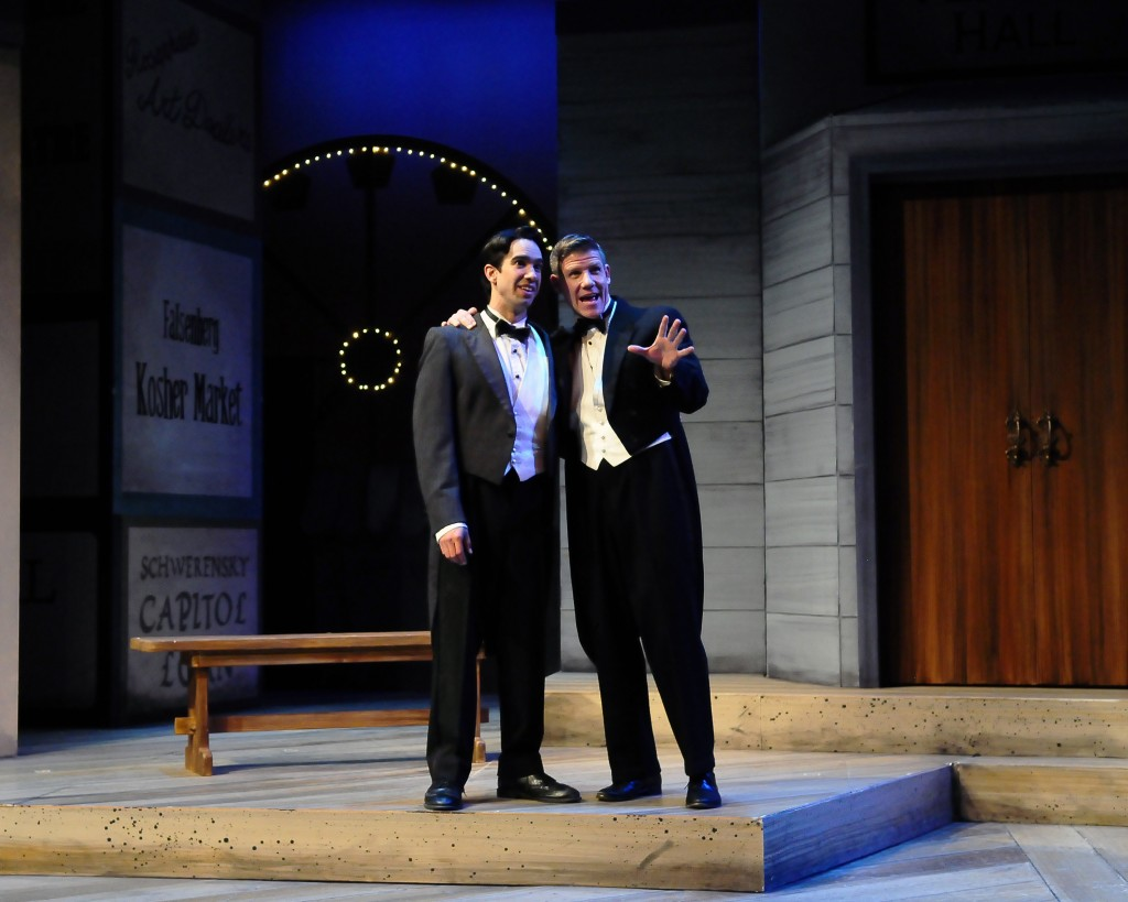 Andrew Joseph Perez and Jeb Burris in STC's 2014 production of Romeo & Juliet