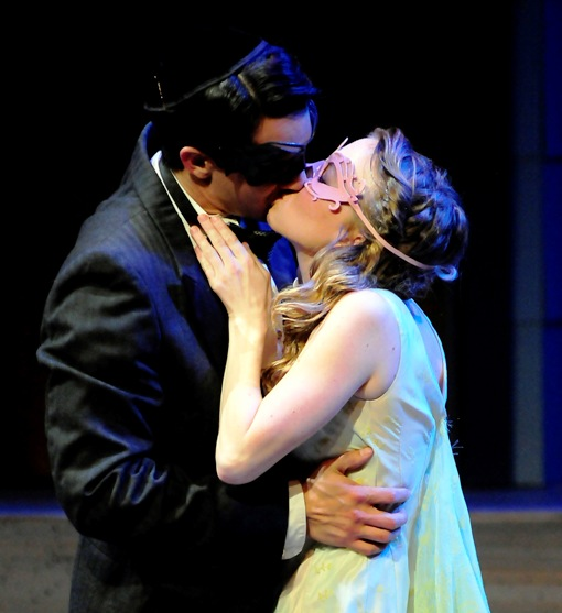 Andrew Joseph Perez as Romeo and Denver Skye Vaugh as Juliet in Romeo and Juliet