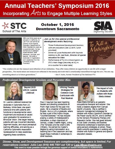 Teachers Symposium 2016 Flyer
