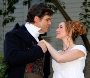 Brittni Barger as Elizabeth Bennet and Ryan Snyder as Mr. D'arcy