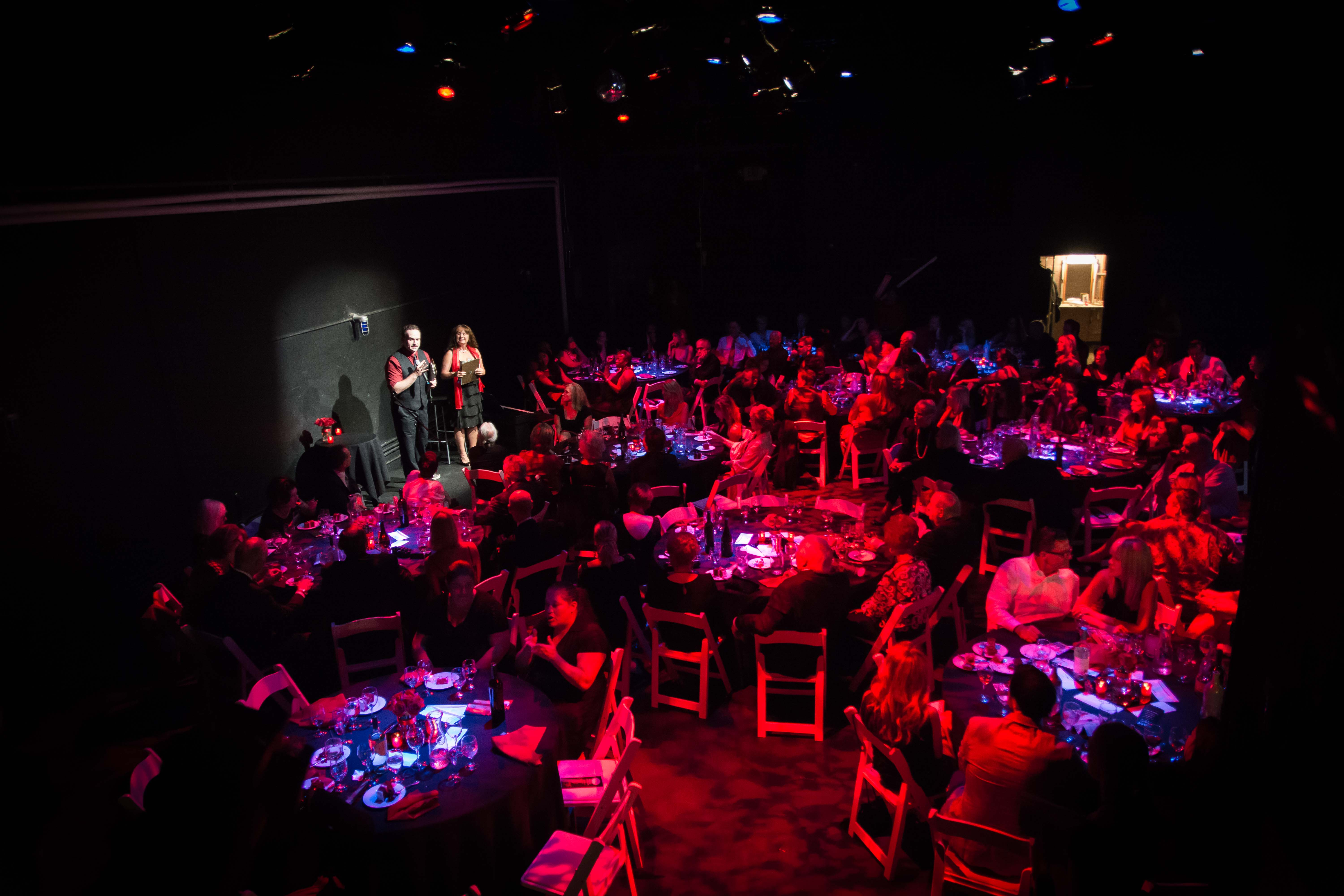 Dinner on Stage at the 1st Annual Black & Red Fundraising Gala in 2014