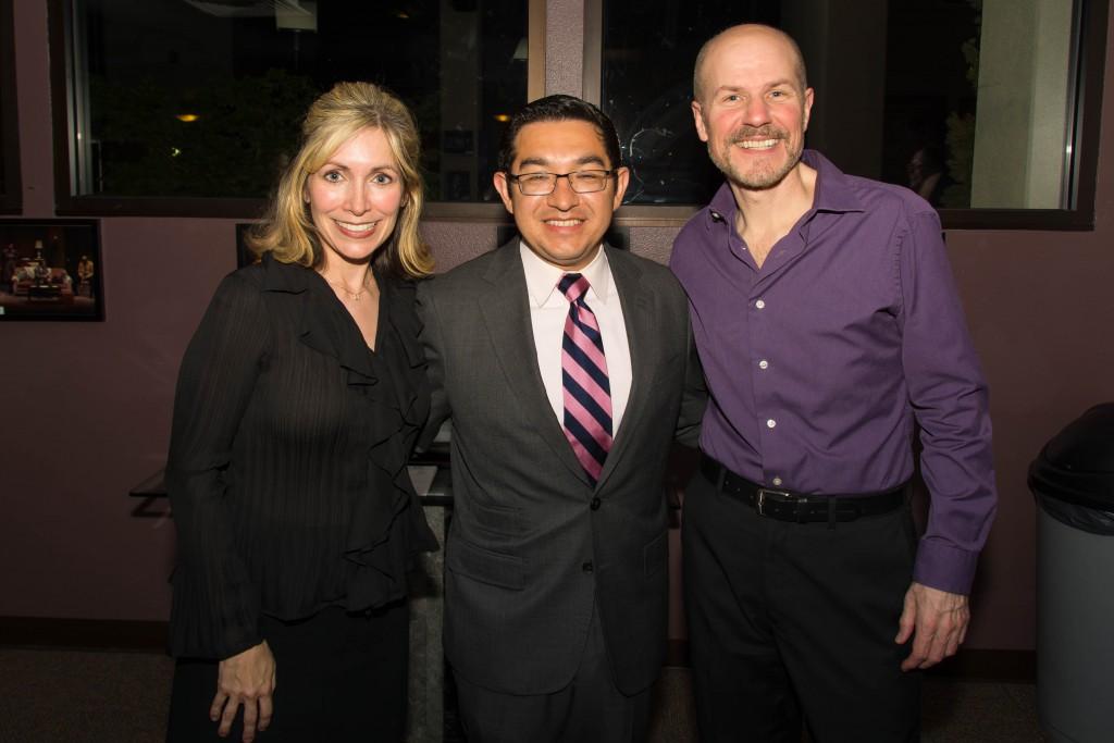 Education Director Michele Hillen-Noufer, City Councilmember Eric Guerra, & Executive Producing Director Michael Laun