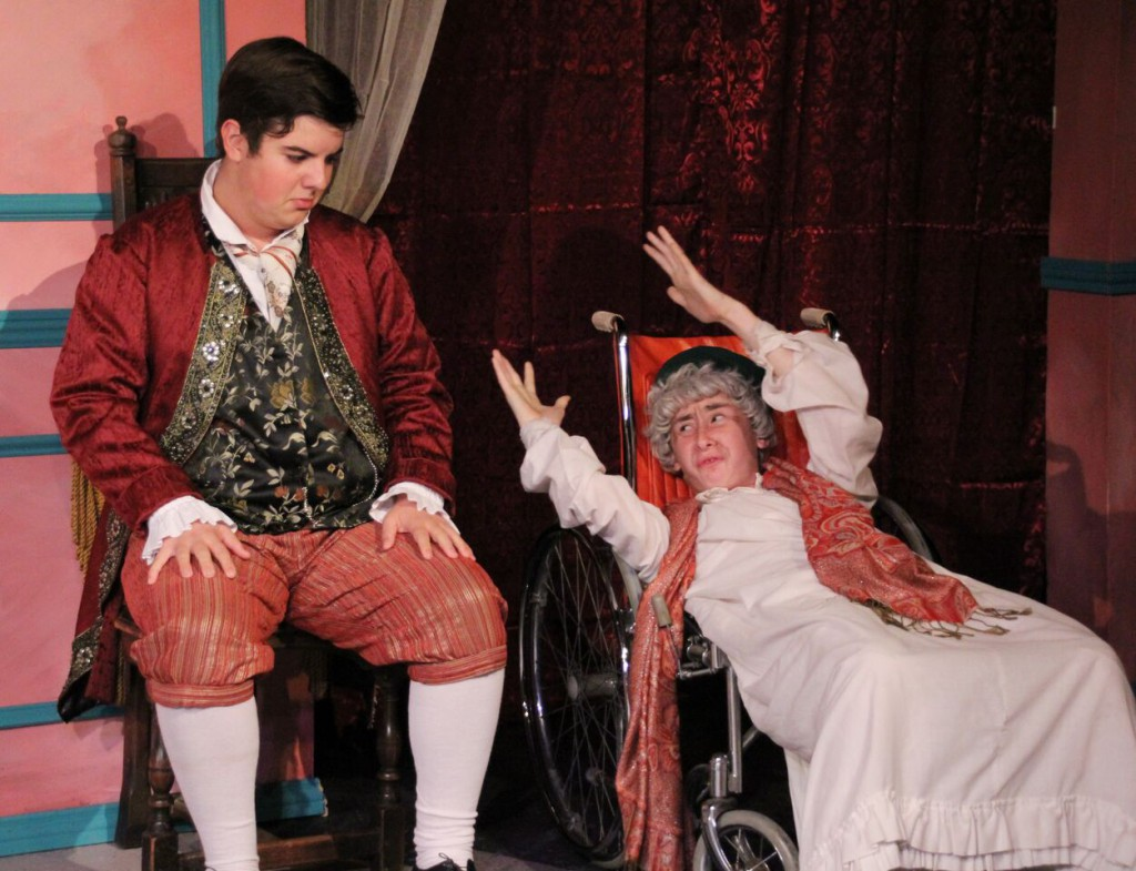Students from STC's Young Professionals Conservatory in The Imaginary Invalid (Pills Cast)