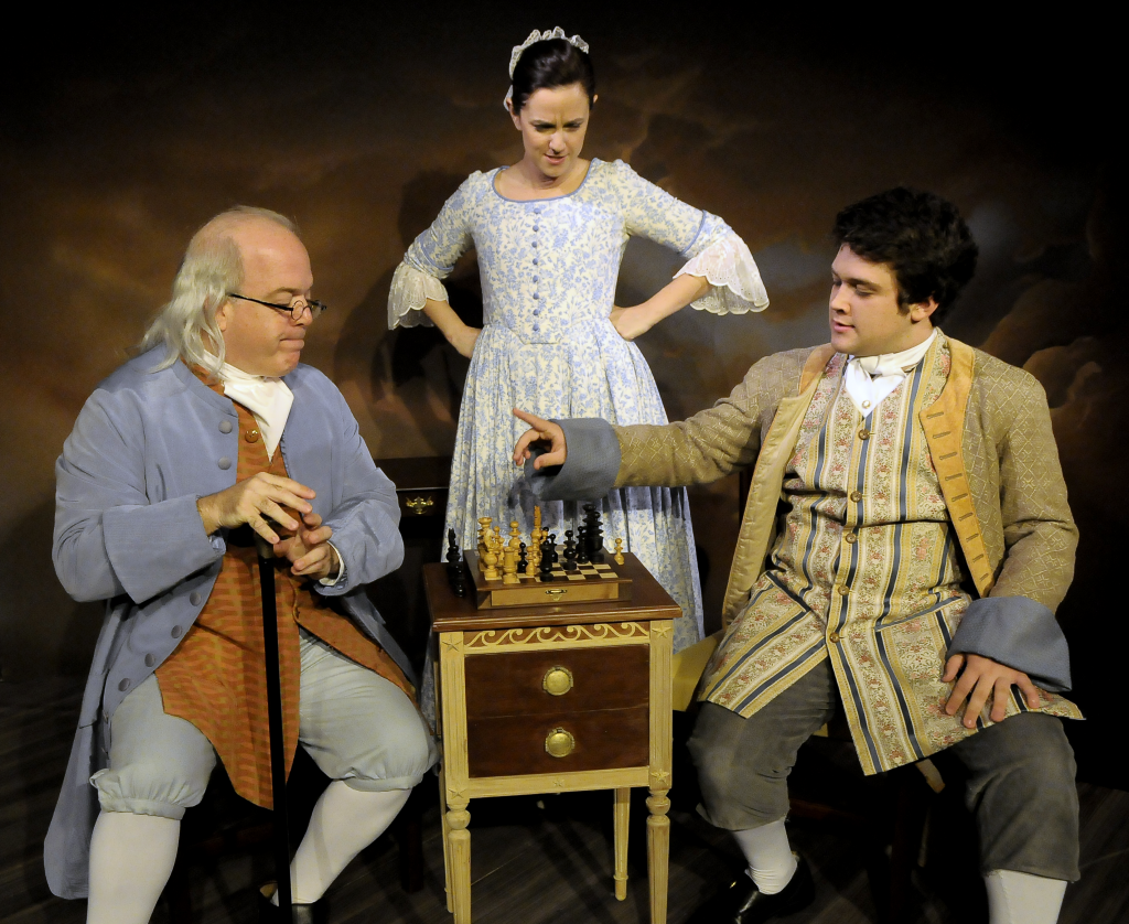 Ted Barton, Katie Rubin (Polly Stevenson), & Adrian Anderson (Temple)