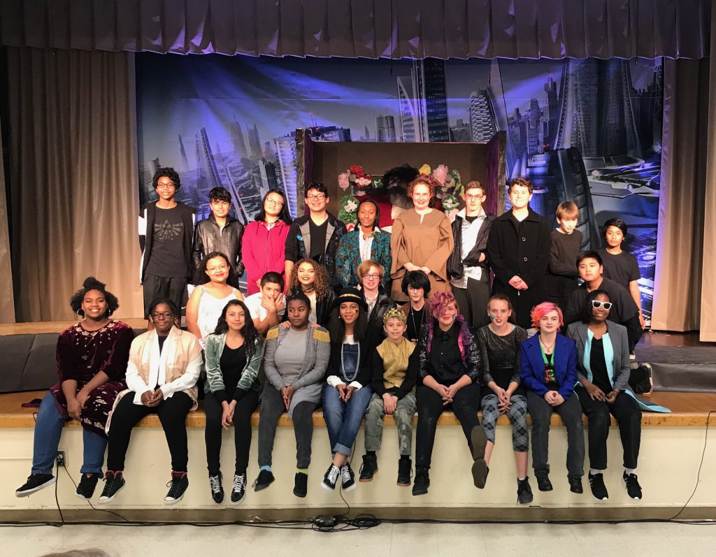 The cast of 'Romeo and Juliet' at Albert Einstein Middle School (December 2017)